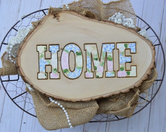 Home | Florals | Wood Slice | Handpainted | Southern Charm | Farmhouse Decor | Country Chic | Handmade