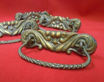 Vintage Decorative Brass Drawer Pulls