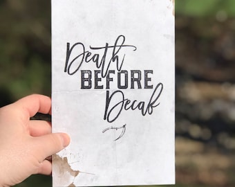 Death Before Decaf - 6x9 Matte Finish Print