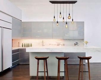 7 Pendant Industrial Chandelier - Kitchen Lighting, Restaurant Lighting, Designer lighting