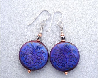 Like Wow Collection  Thermally Sensitive Earrings 2 with Fern Motif.