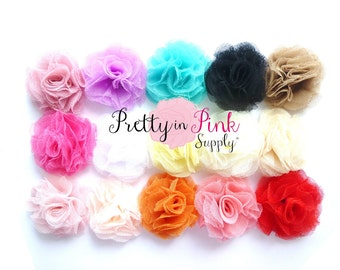 Tulle Puffs- You Choose Quantity- Supply Shop- DIY Headband Supplies- Wholesale- By the Piece- Applique- PrettyinPinkSupply- Flower- Flowers