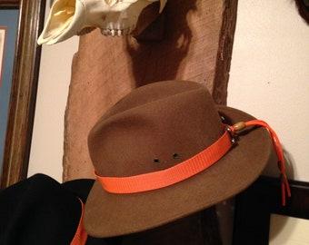 Hunter orange hat band