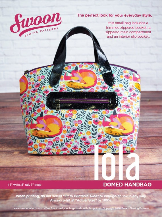 Swoon Patterns: Lola Domed Handbag - PDF Vintage Purse Tote Handbag ...