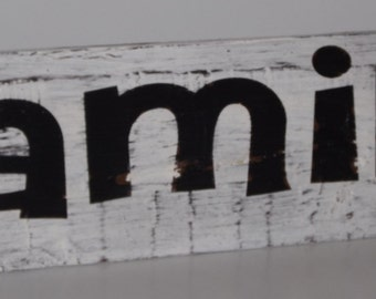 Wood Decor Shelf sign FAMILY sign.  Shipping included in price!