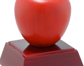Color Apple Resin Award - Apple Trophy - Great for Teachers - Free Personalization