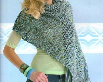 Crochet Quick & Easy Poncho PATTERN Shawl Wrap Beginner Pattern - Digital Download