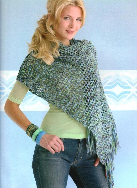 Crochet Quick Amp Easy Poncho Pattern Shawl Wrap Beginner