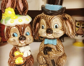 Vintage Bunny Couple