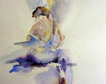 watercolor blue women's