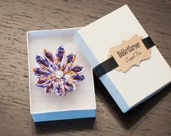 Clematis Flower Lapel Pin
