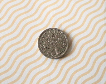 Sixpence 1955 coin