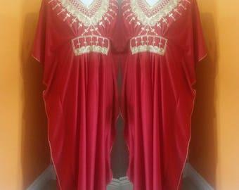 70s embellished maxi dress