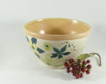Ramen Bowl Ramekin Ceramic Handmade Salad Bowl Ice cream bowls Cereal Bowl Soup bowls Pottery bowl ceramics and pottery 9th anniversary gift