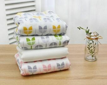 Cotton Double Gauze Fabric yard muslin Gauze by the yard Bamboo cotton tulip CH973002