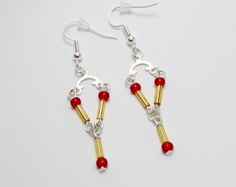 Back to the Future Inspired Flux Capacitor Earrings
