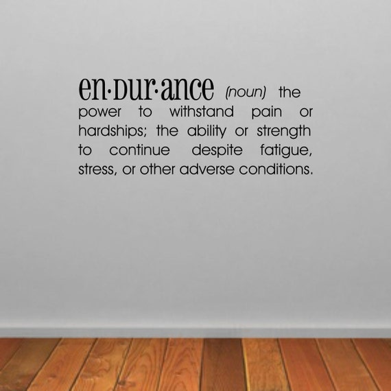 Endurance Dictionary Definition Wall Sticker Dictionary Wall