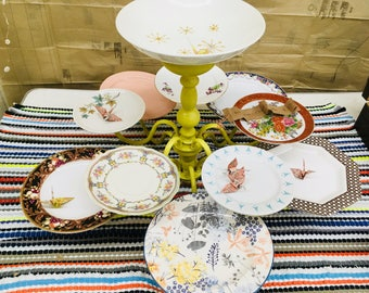 Chandelier Serving  Platter displays your party food! Invite Guests to nibble! Housewarming gift, or use as vintage, upcycled wedding decor!