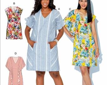 McCall's Pullover Dress Pattern, Tunic Dress Pattern, Easy Dress Pattern,  McCall's Sewing Pattern 7712