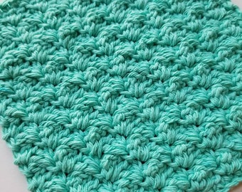 Berry Blue Kitchen Dishcloth, Crochet Dishcloth, Washcloth, Texture Dishcloth, Ready to Ship