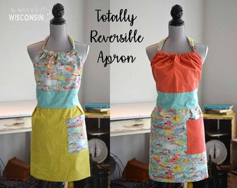 Totally Reversible Apron - Colorful Farm - 164