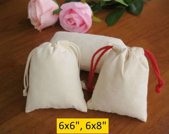 30 6x8 Calico Pouches 6x6 Gift Bags Draw String Bags Shopping Bags Retail Bags
