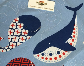Ana Davis By Blend Whale and Dolphin Fabric, Sea Life Quilting And Sewing Fabric, Whale Fabric, Dolphin Fabric