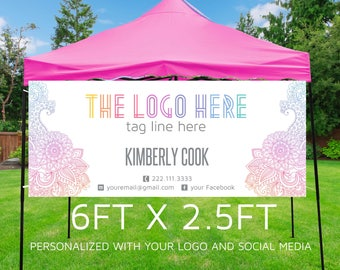 Banner | Pop-up Boutique Banner | Consultant Banner | Business Banner | Printable Banner Party Banner {6ft x 2.5ft} **DIGITAL FILE ONLY**