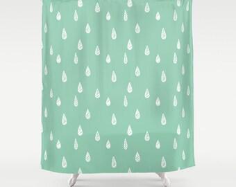Captivating 45 Colors Shower Curtain, Rain Shower Curtain, Seafoam Shower Curtain, Mint Shower  Curtain