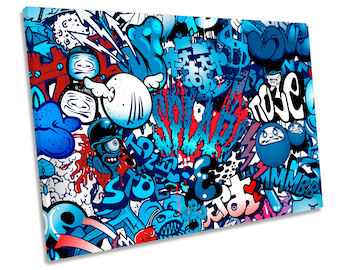 Urban Graffiti Characters Single CANVAS WALL ART Print Picture 280gsm