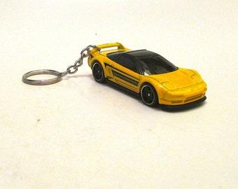 Honda Acura NSX keychain, Mid Engine Aluminum Sports Car,Car keychain, Mens or Womens keychain, Mens or Womens gift