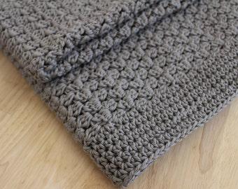 Crochet PATTERN - Easy crochet baby blanket pattern