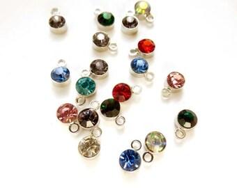 20 Assorted Rhinestone Drop Charms - 21-31-16