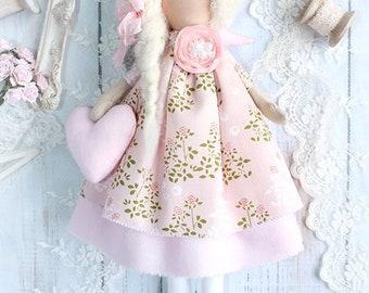 Mini Tilda Doll guardian angel Saranda, textile doll, handmade doll, handmade doll, handmade doll for baby room
