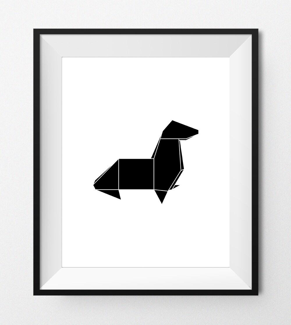 Digital print art origami seal geometric animals sea zoom jeuxipadfo Gallery