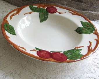 Franciscan Apple Soup Bowls Set of Two (2) 1953-1958 Vintage Dinnerware and Replacements California Pottery
