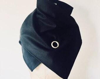 Sale, Scarf, black wool, edgy scarves, accessories, Scarves