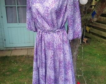Vintage 70's Lilac Loveliness Dress