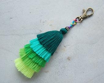 Green Layer Tassel Bohemian Bag Accessory