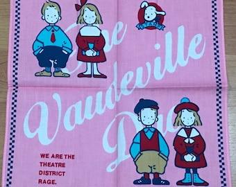1987 Sanrio The Vaudeville Duo Eddy & Emmy Vintage kid's handkerchief from Japan