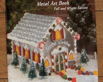 1996 Punch Into the Holidays metal art book seasonal christmas autumn