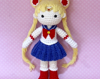 Sailor Moon Plush Amigurumi Doll (Crochet Pattern Only, Digital Download), Senshi, Usagi Tsukino, Anime Gift, Gifts Ideas