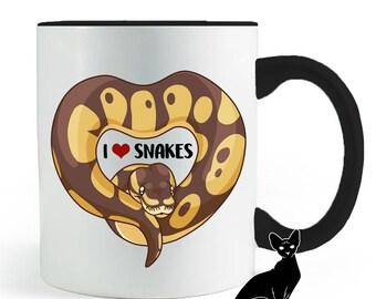 I Heart Snakes Ball Python Mug