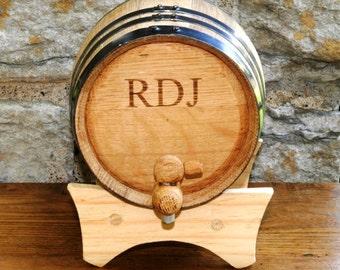 Personalized Oak Whiskey Barrel for Groomsmen - Bourbon Barrel - Gift Ideas for Him - Husband Gifts -  GC1028