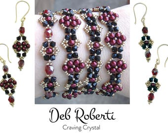 Craving Crystal beaded pattern tutorial by Deb Roberti