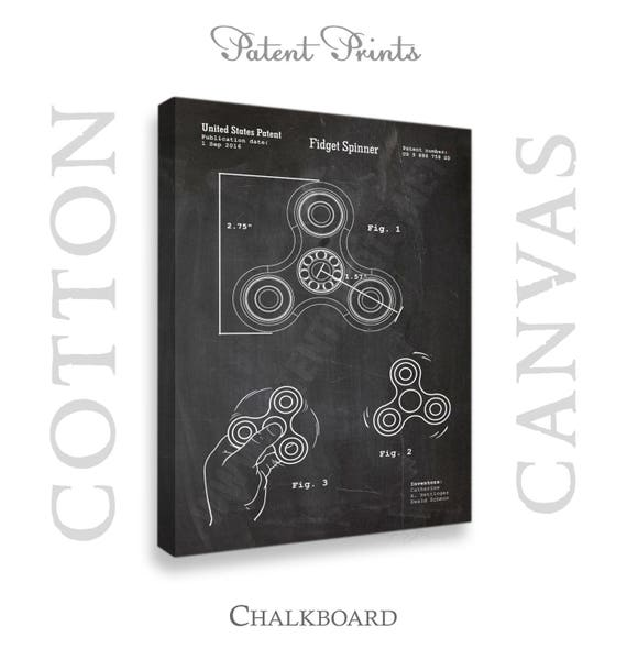 Canvas Fid Spinner Patent Print Canvas Wall Art Canvas