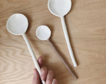 Long Ceramic Spoons Stoneware MADE TO ORDER