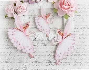 Sugar Plum Fairy Die Cut Embellishments for Scrapbooking, Cardmaking, Mixed Media, Altered Art