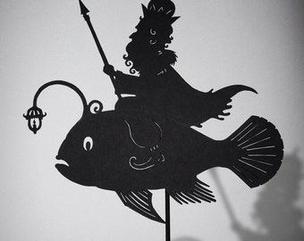 Morskoi Tsar / Laser cut Shadow Puppet