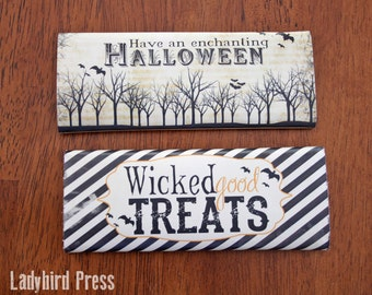 Printable Halloween Candy Bar Wrappers - Instant download - Vintage